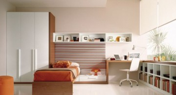 simple modern mens bedroom with white walls