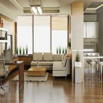 simple modern painted floors inspiration for small apartment and office