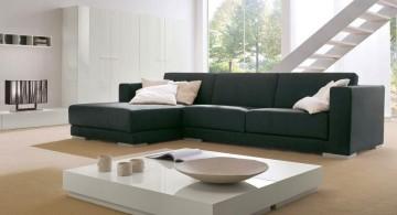 simple modular sofas in espresso