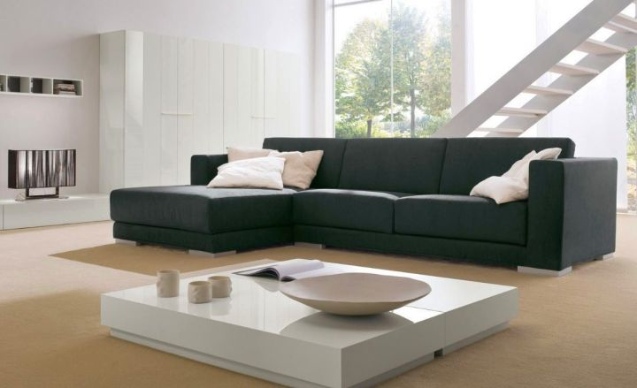 simple modular sofas in espresso