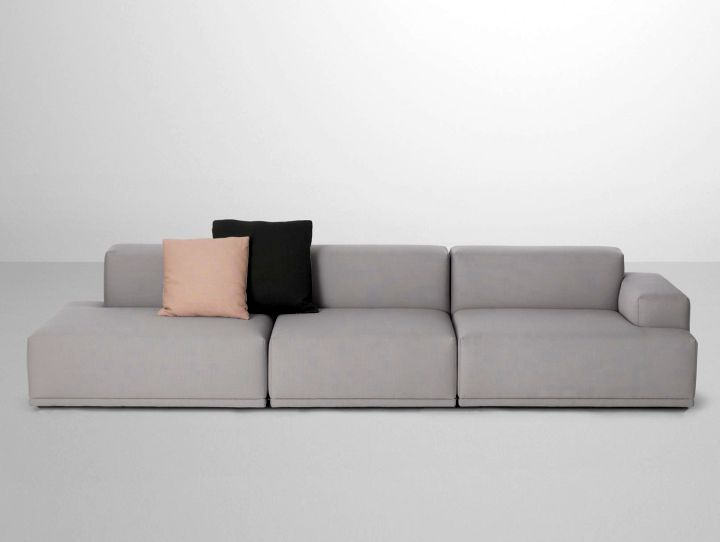 simple modular sofas in grey