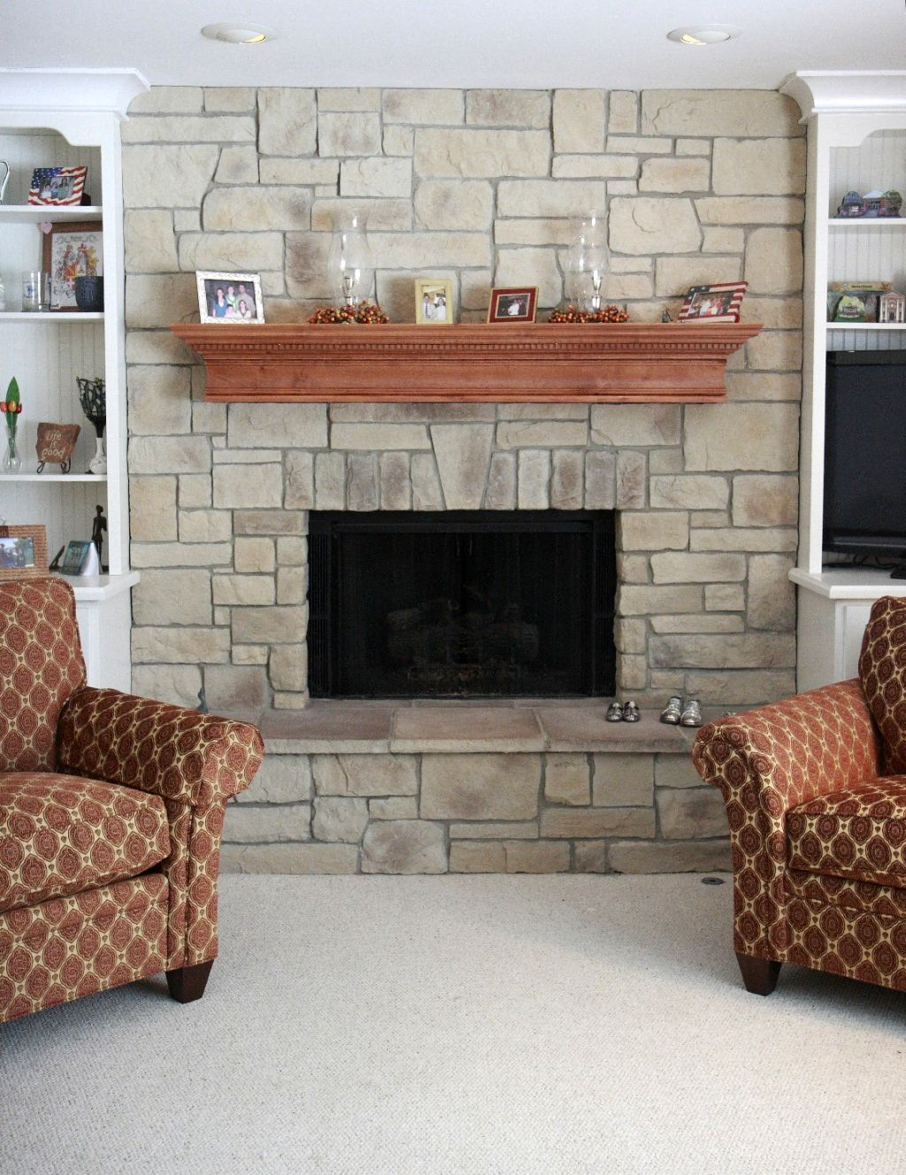 Fireplace Mantel Shelves Designs