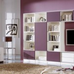 simple multi cubibcles wall shelving units for living room
