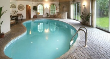 simple outlooking indoor swimming pool designs