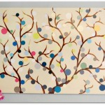 simple painting ideas canvas bubbles tree