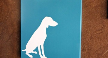 simple painting ideas canvas dog silhouette