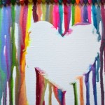 simple painting ideas canvas empty heart