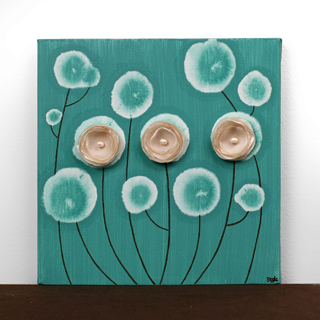 simple painting ideas canvas flowers