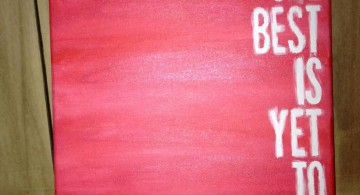 simple painting ideas canvas with quote
