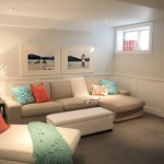 simple pastel-colored room designs for basement