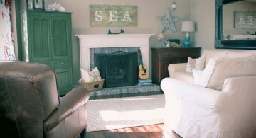 simple sea themed hang out room ideas for small space
