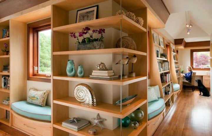 simple space savvy corner shelf designs