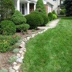 simple stones for flower beds
