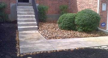 simple stones for flower beds on limited space