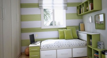 simple teenage rooms ideas in green and white
