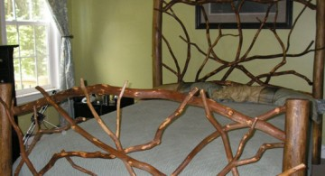 simple and unique tree branch bed