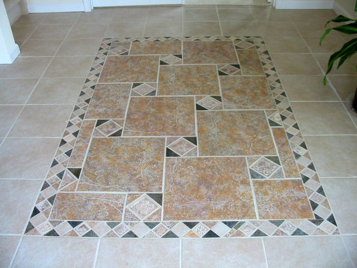 Floor Tile Design Ideas floor tile design ideas Simple With Random Pattern Inlaid Tile Flooring Ideas For Living Room