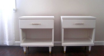 simple with  small legs modern nightstands white