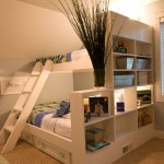 simple wooden funky bunk beds