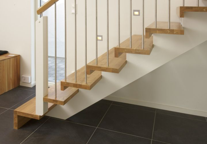simple wooden stairs