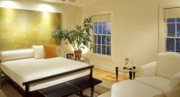 simple zen bedroom ideas in monochrome