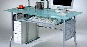 single Acrylic Computer Desk