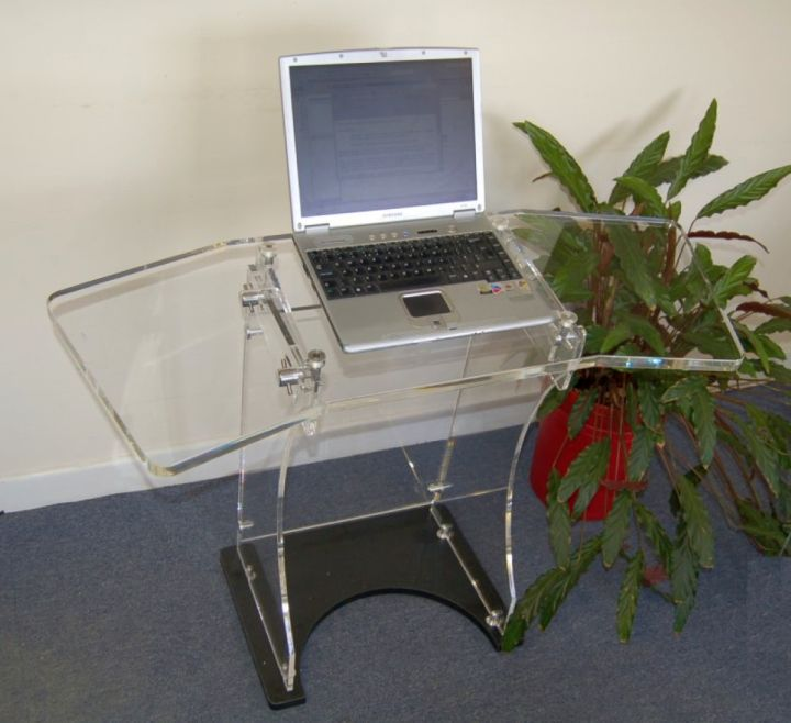 18 Sleek Acrylic puter Desk Designs for Small Home fice