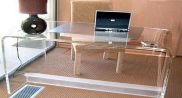 sleek Acrylic Computer Desk