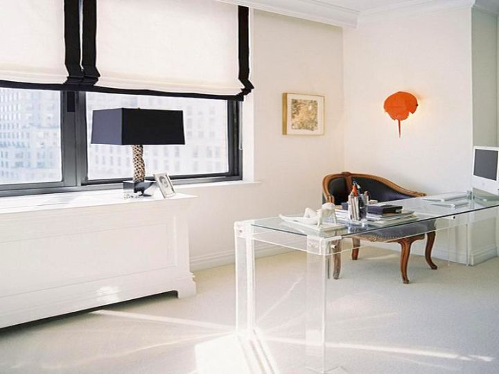 18 Sleek Acrylic Computer Desk Designs For Small Home Offices
