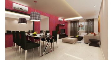 sleek and contemporary drop ceiling decorating ideas
