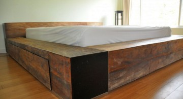 sleek and contemporary rustic bed plans