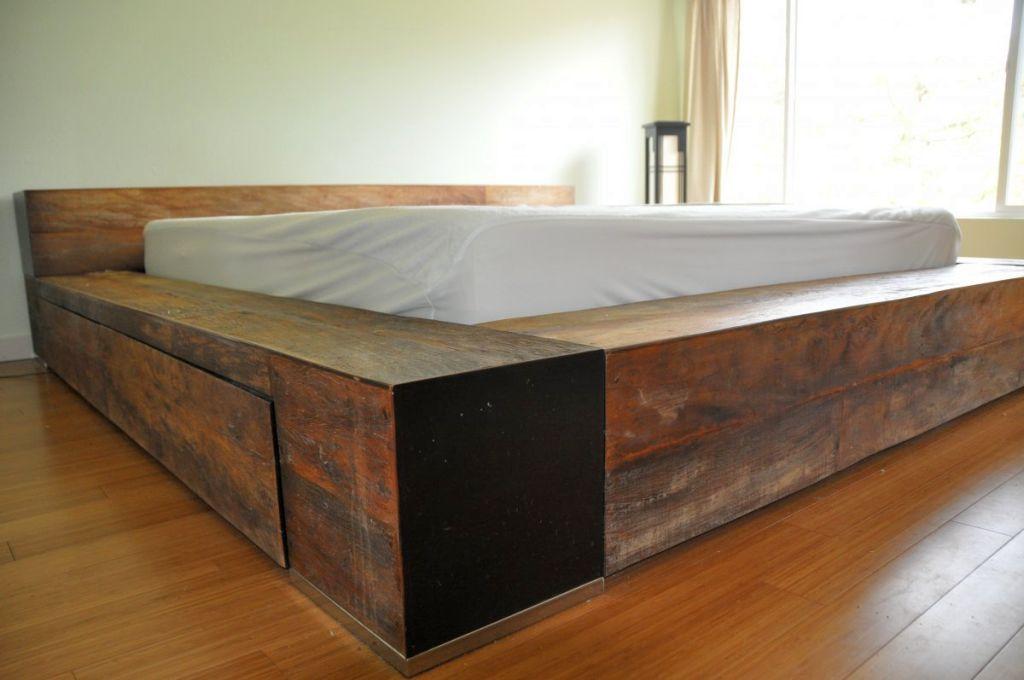 20 wooden rustic bed plans for sweet brownie atmosphere