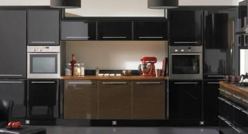 sleek and modern black ideas for cabinet doors
