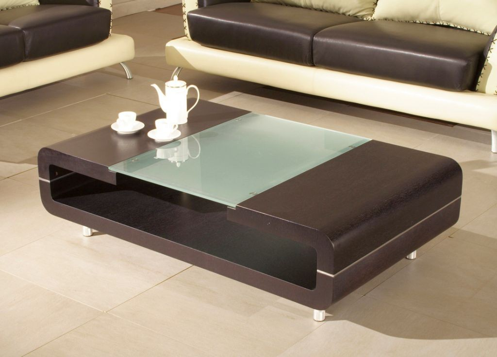sleek and open wood coffee table designs