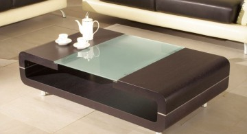 sleek and open wood coffee table designs