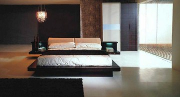 sleek black and floating effect contemporary bedding ideas