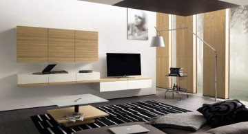 sleek black minimalist modern furniture with bamboo accent