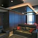 sleek black squares drop ceiling decorating ideas