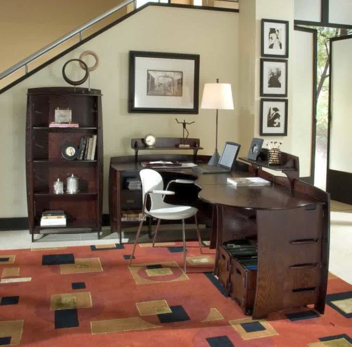 sleek office desk for small space