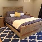 sleek rustic bed plans