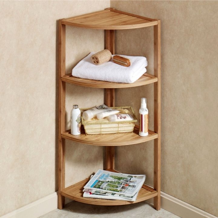 Small And Rustic Corner Shelf Designs