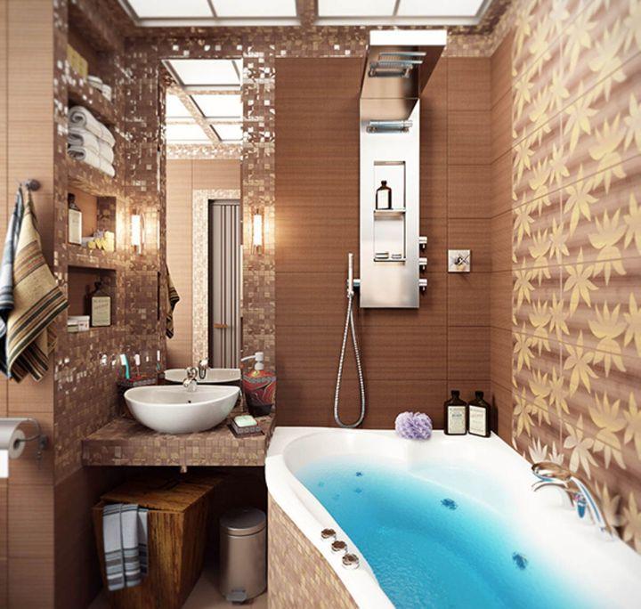 small brown bathroom ideas