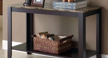small entry table ideas with low second deck