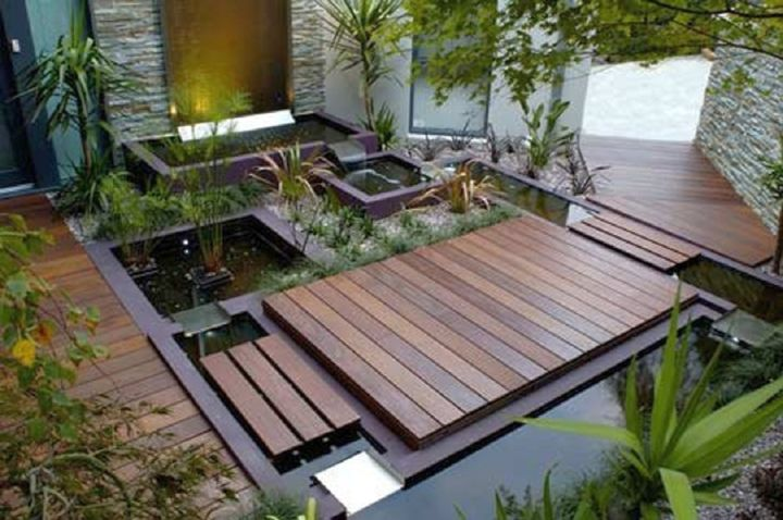 Garden Design With Small Japanese Garden Design Ideas With Pond And Wooden  Deck With Back Yard