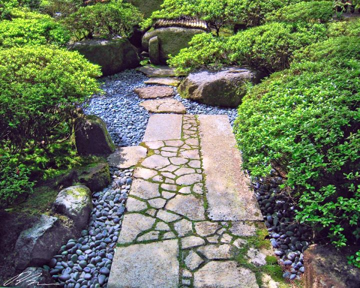 Small japanese garden design ideas with stone walkway - Small japanese garden ideas ...