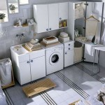 small laundry room storage solutions for basement