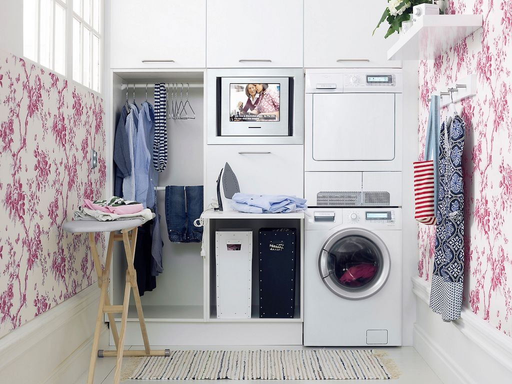 20 briliant small laundry room storage solutions for Small utility room