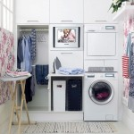small laundry room storage solutions for corner room