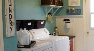 small laundry room storage solutions in limited space