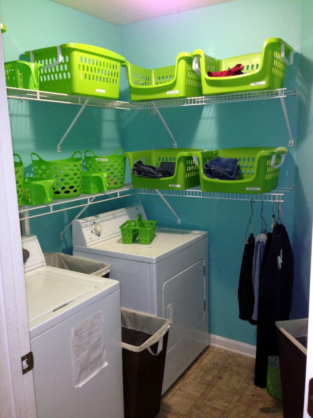 Office design a home office home office organizing ideas designs for - Small Laundry Room Storage Solutions With Basket Racks